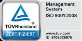 Qualitätsmanagement nach ISO 9001:2008 - Wir sind zertifiziert